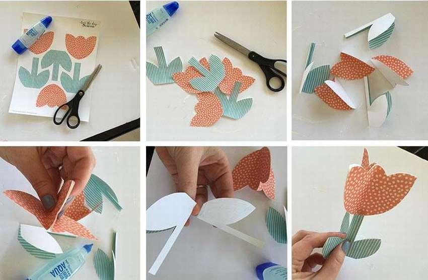 Template Paper Tulip.