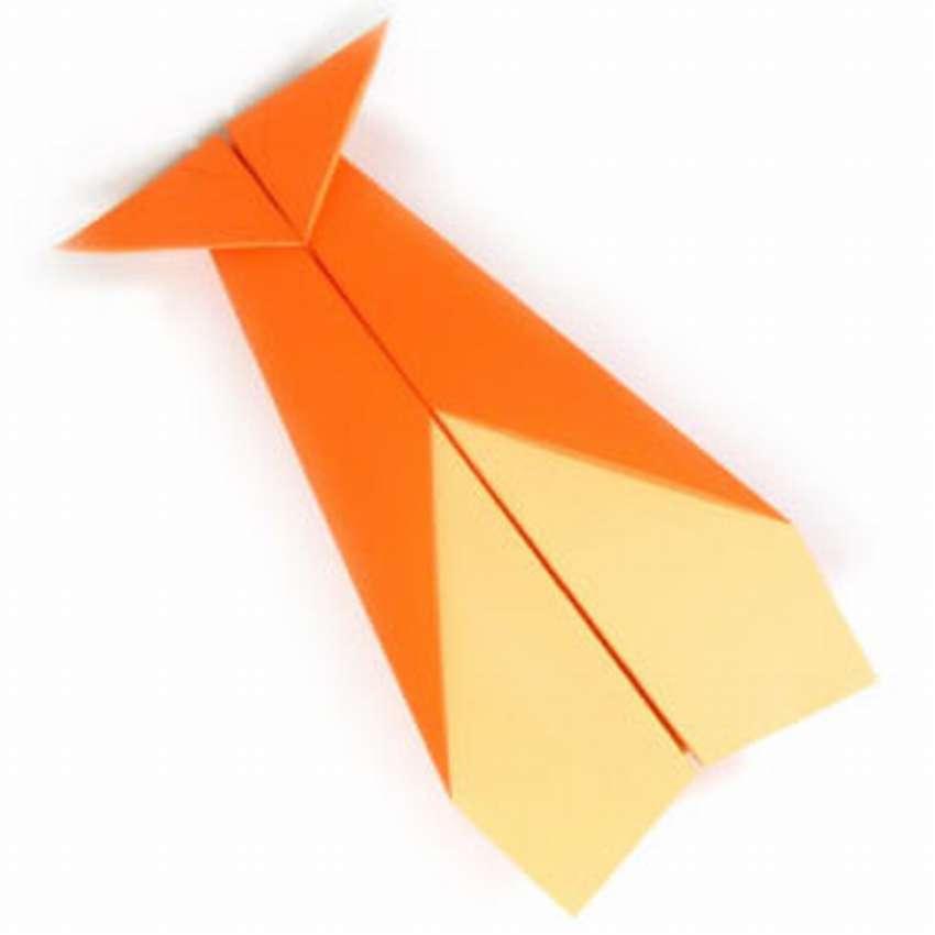 летающий самолет оригами схема