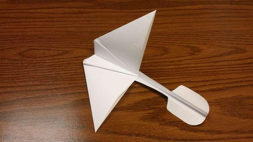 планер из бумаги оригами