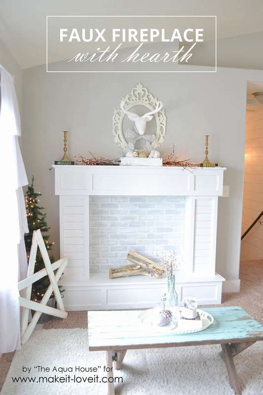 how to make an artificial fireplace