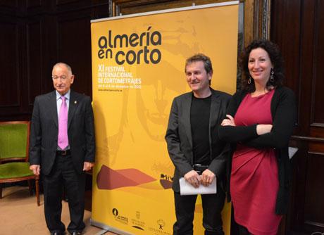 Amat, Serrano y Vázquez han presentado la nueva imagen del festival.