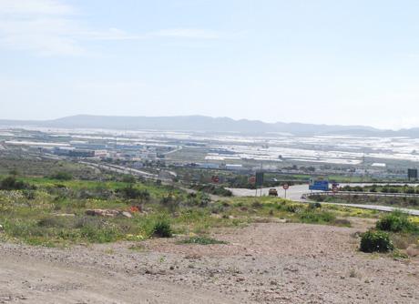 Ubicación del futuro parque de bomberos de Níjar.