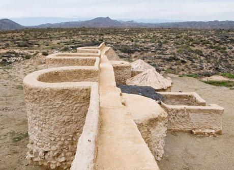 Un trozo de la muralla de Los Millares.