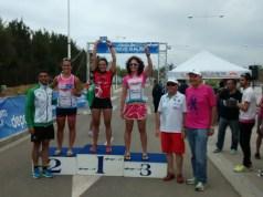 Podio Femenino Triatlón de Almería.