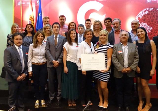 Los represetantes del IES ejidense recogieron el premio en el Ministerio.