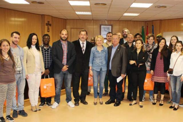 Jóvenes participantes en el encuentro Be Youth de Roquetas.