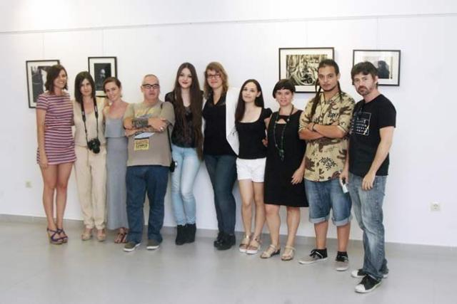 Alumnos participantes en la muestra fotográfica.
