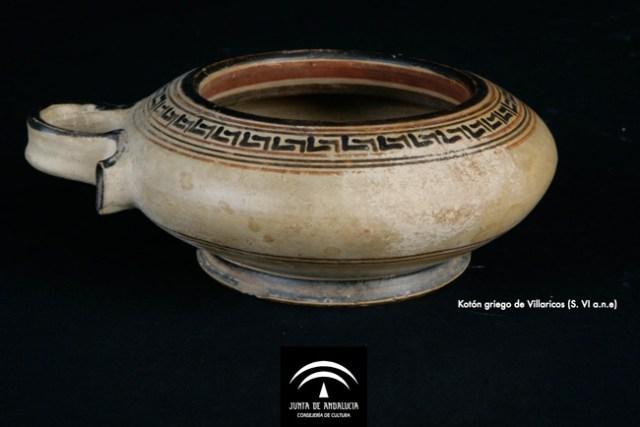 Kotón griego seleccionado como pieza del mes en el Museo de Almería.
