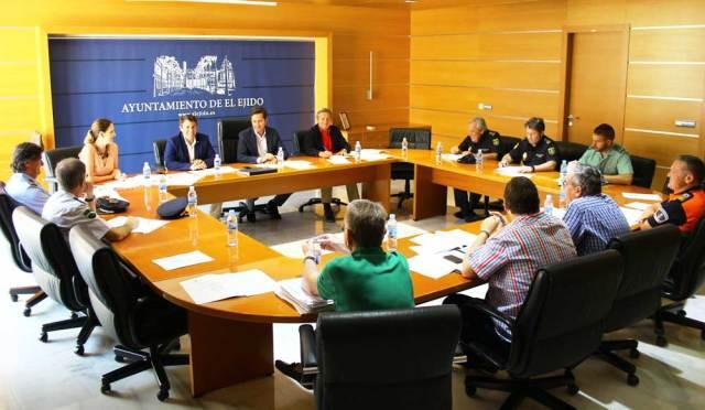 Junta Local de Seguridad celebrada hoy en el Ayuntamiento de El Ejido.