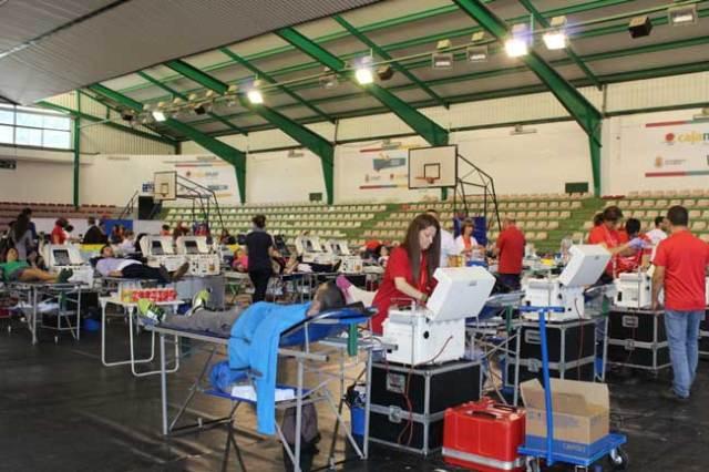 Última maratón de donación de sangre en la capital almeriense.