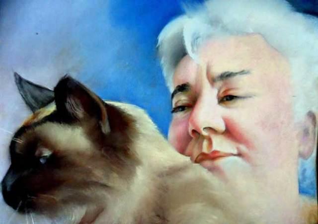 Retrato de Lola Callejón realizado por Koro Aguado.