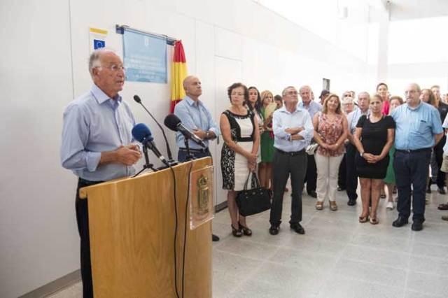 Intervención de Gabriel Amat, durante la inauguración.