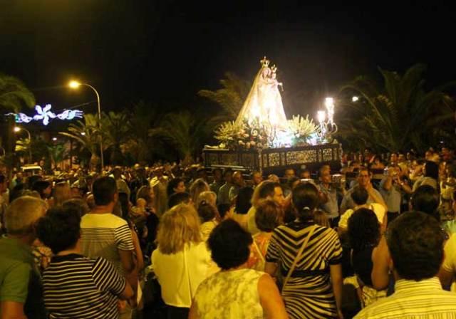 Procesión de la Virgen de las Mercedes, en Balerma.