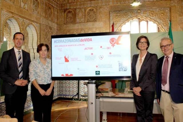 Corazonadas de vida, programa presentado hoy en Almería para prevenir infartos en mujeres.