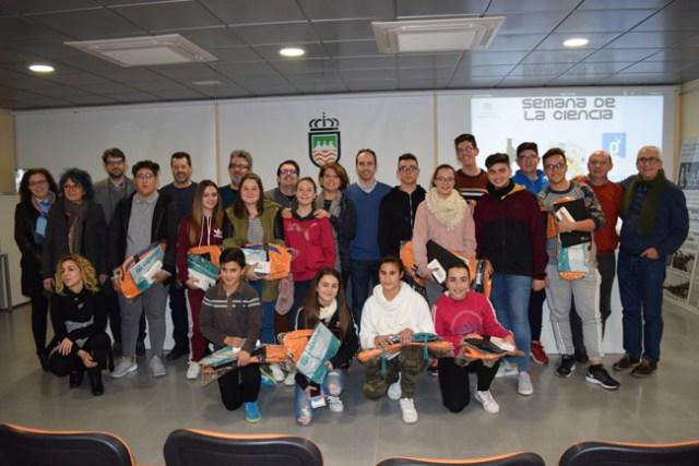 Participantes en la Semana de la Ciencia de Gádor.