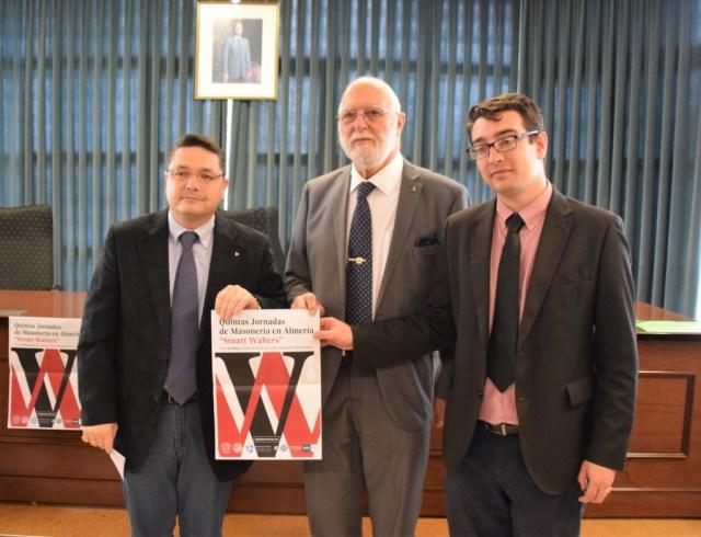 De izquierda a derecha, Manuel Barea, Stuart Walters y Luis Díaz Velázquez