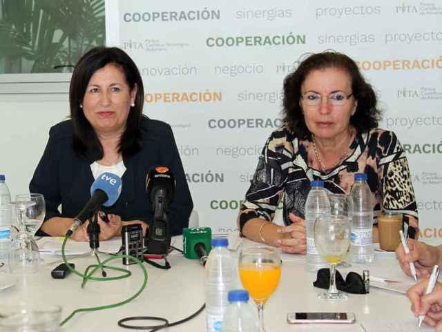 Trinidad Cabeo, directora del PITA, y Gracia Fernandez, presidenta del PITA_opt