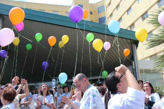 Actos del Día del Donante celebrados en el hospital de Torrecádenas.