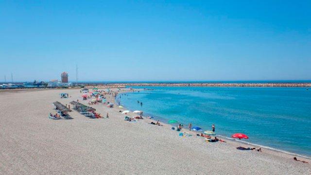 Playa en Almerimar.