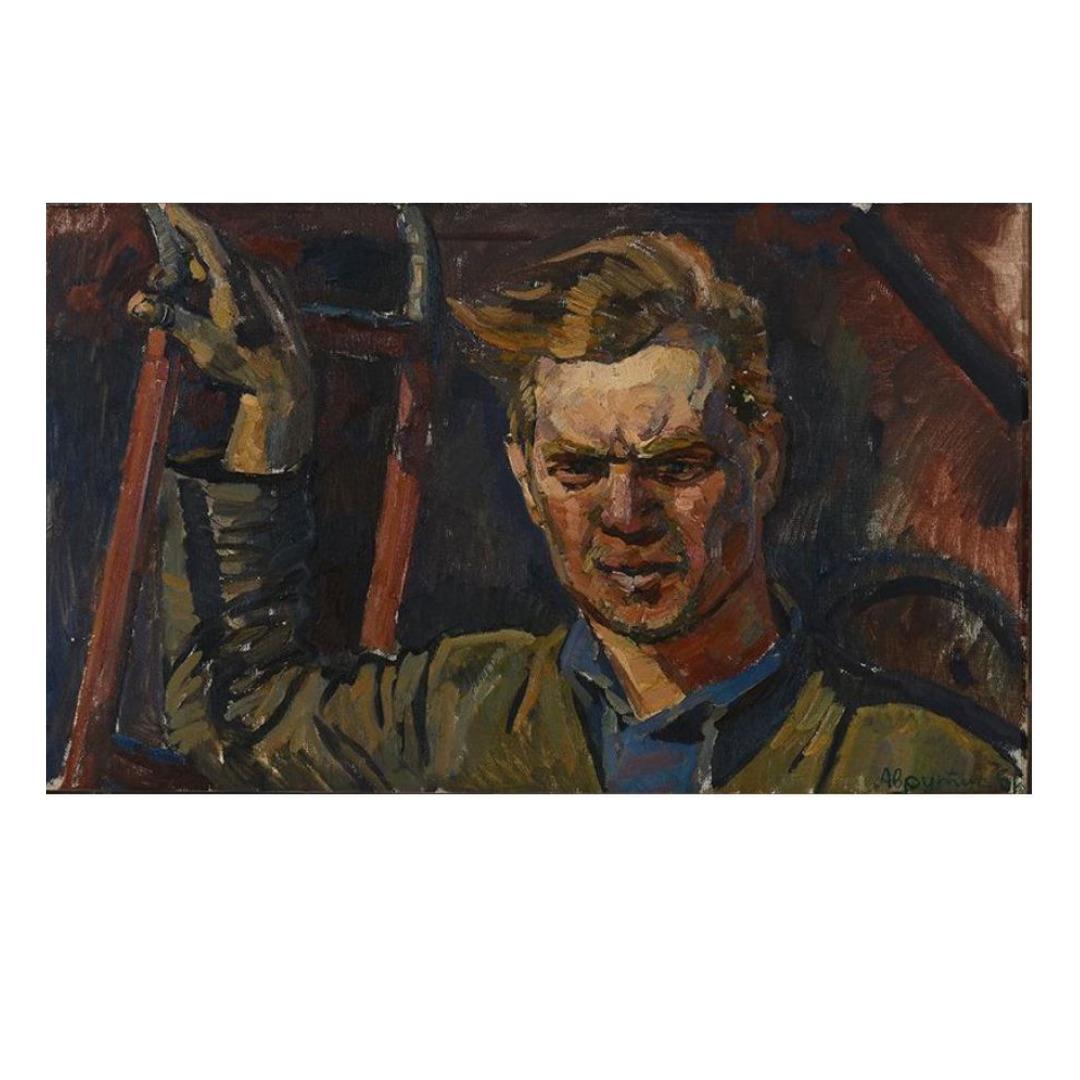 Avrutis kartina portret muzhchiny kombajnera Nikolaya Rassohina
