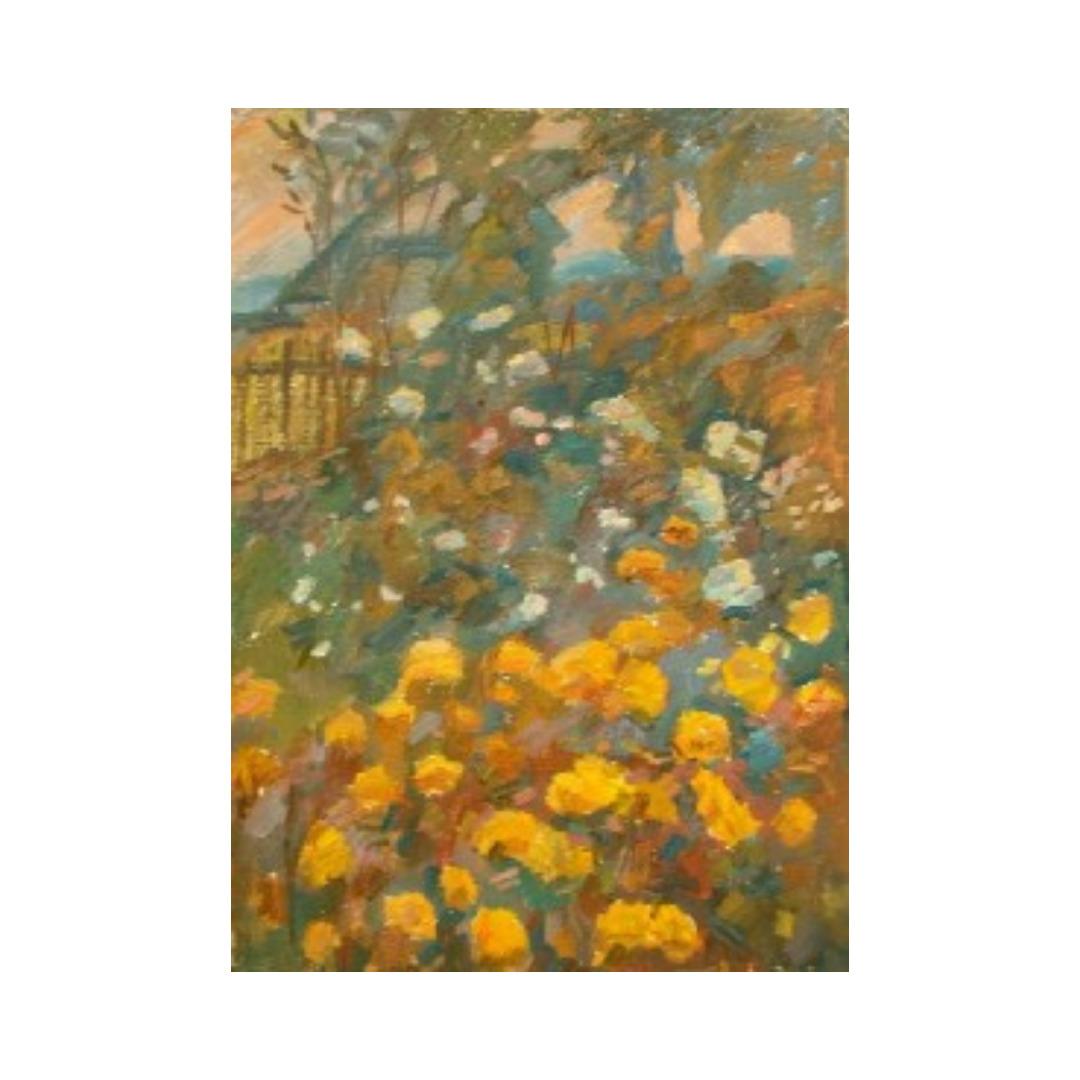 Avrutis kartina Cvety v ogorode