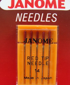 RED TIP SCARF NEEDLES (5 PER PACKET)