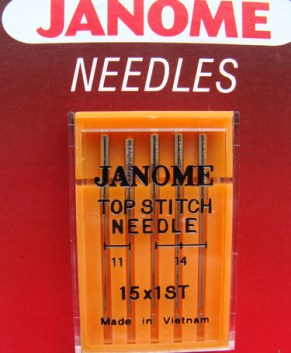 TOP STITCH NEEDLE 15X1ST ASSORTED (5 PER PACKET )