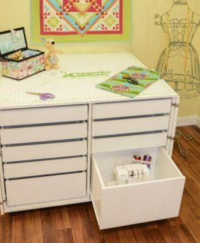 KANGAROO DINGO II SEWING CABINET - White