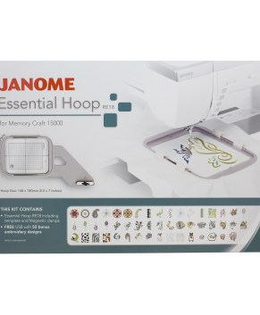 Janome RE 18 Essential Hoop Kit For MC15000 - MC14000 - MC12000