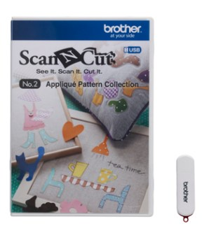 BROTHER SCAN AND CUT - USB No. 2 Appliqué Pattern Collection - CAUSB2