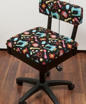 ARROW HYDRAULIC SEWING CHAIR WITH SEWING NOTIONS PATTERN -