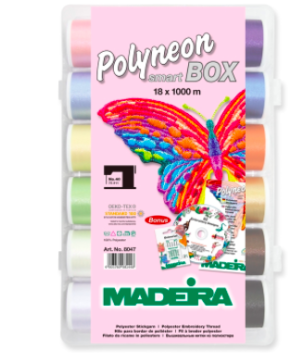 MADEIRA Smartbox: Polyneon No.40: 18x 1000m: Spools |Multi-Colour | 8047
