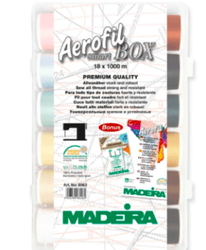 Madeira Aerofil Smartbox 18 x 1,100 Yards Spools Art. No. 8063