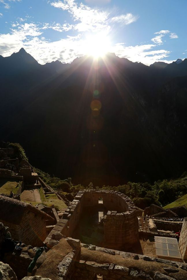 Solstice Sunrise at Machu Picchu 21 June 2014