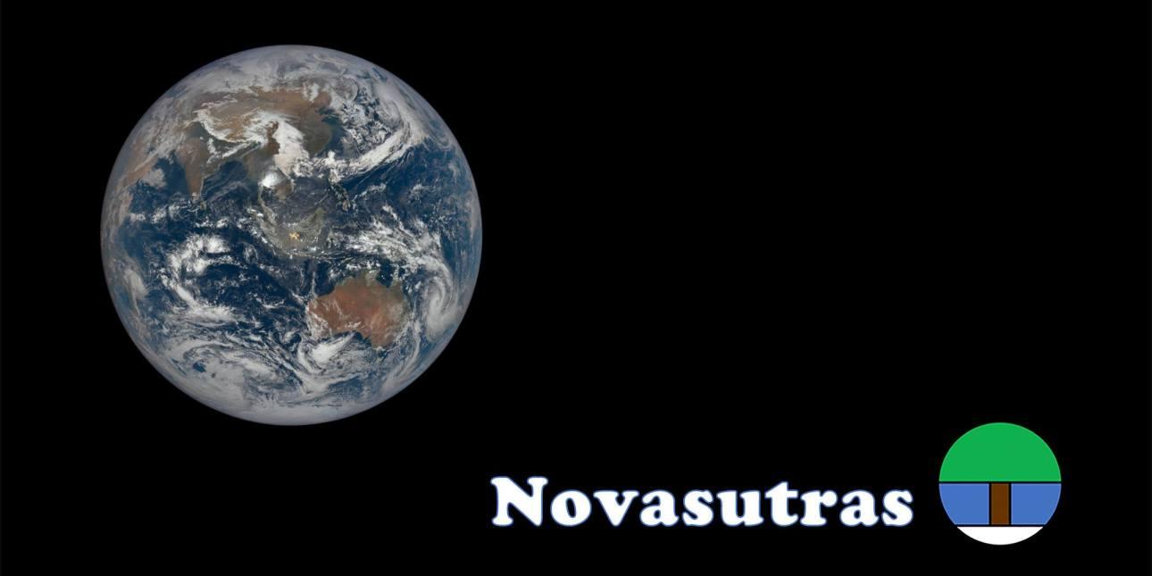 Whole Earth image and Novasutras logo