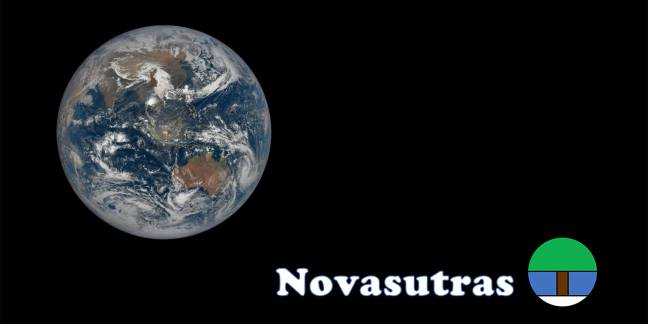 Whole Earth image and Novasutras logo