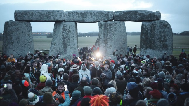 Stonehenge, Salisbury - 2019 Winter Solstice celebration before sunrise. Photo by Dyana Wing So on Unsplash