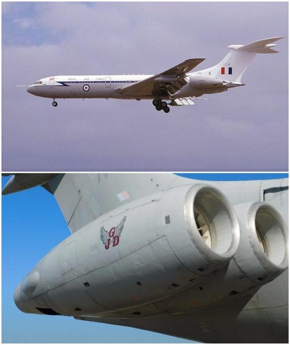 Так выглядят турбины дальнемагистрального авиалайнера и двигателя Vickers VC10.