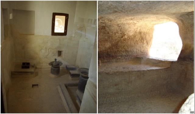 Баня и гардеробная имама в замке на скале (