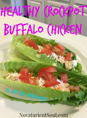 Healthy Buffalo Chicken - 21 Day Fix Approved! - NovaturientSoul.com