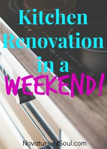 Kitchen Renovation in a Weekend! - NovaturientSoul.com