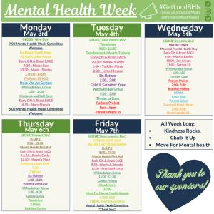 Mental Health Week Calendar - Social Media