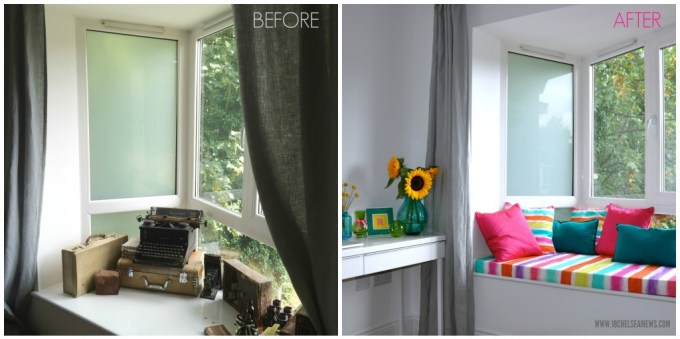 DIY window seat before and after - 18chelseamews.com