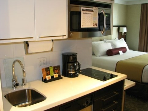 Cozinha do Staybridge Suites Times Square