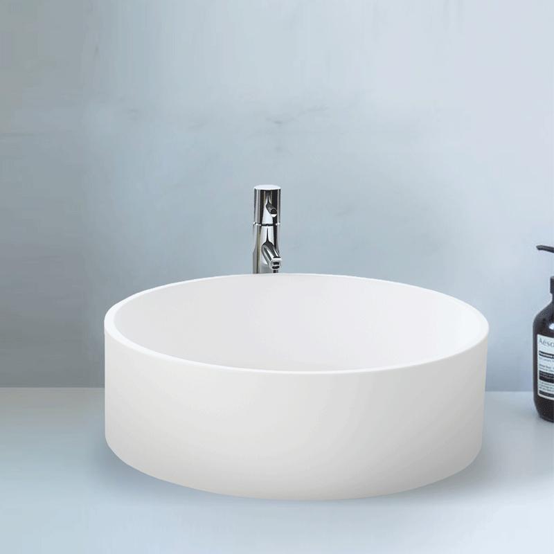 Vasque A Poser Ronde 45 Cm En Solid Surface Vista Vasques A Poser Solid Surface Vasques