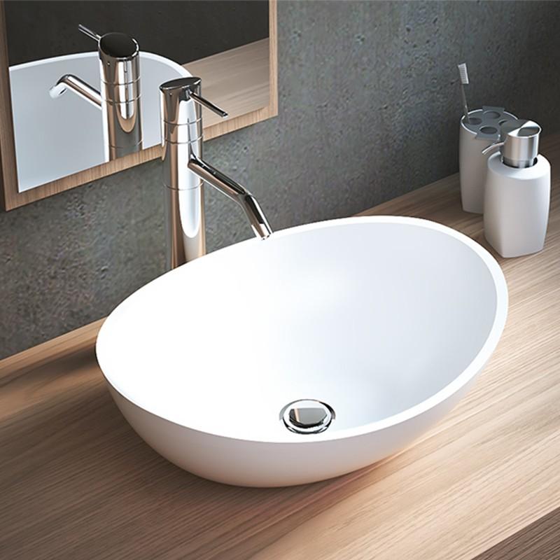 Vasque A Poser Ovale En Solid Surface Melissa Vasques A Poser Solid Surface Vasques