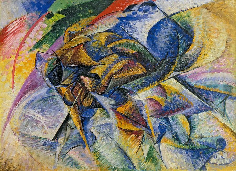"""Umberto Boccioni, """"Dinamismo di un ciclista"""", 1913"""