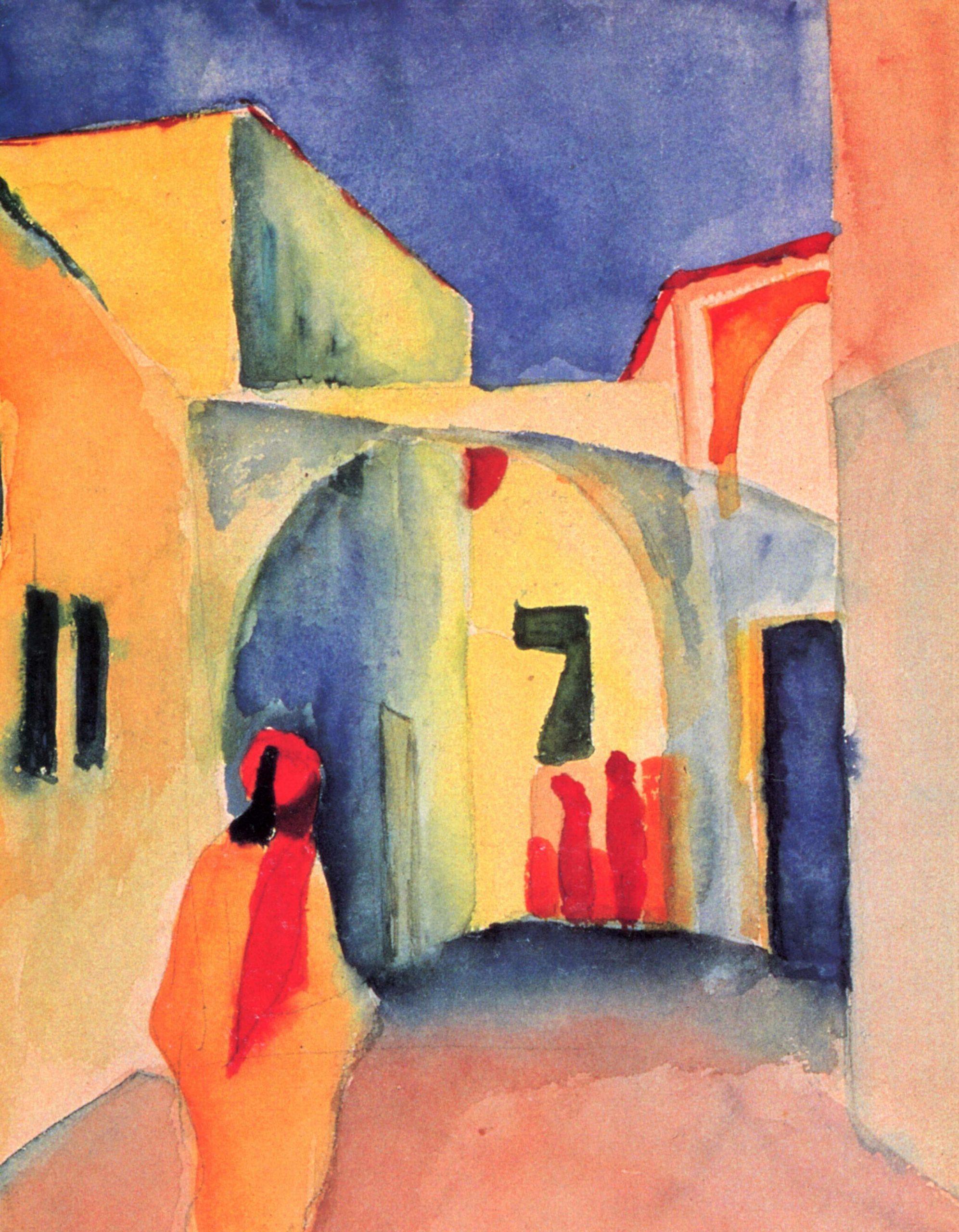 """August Macke, """"Vista di un vicolo"""", 1914"""