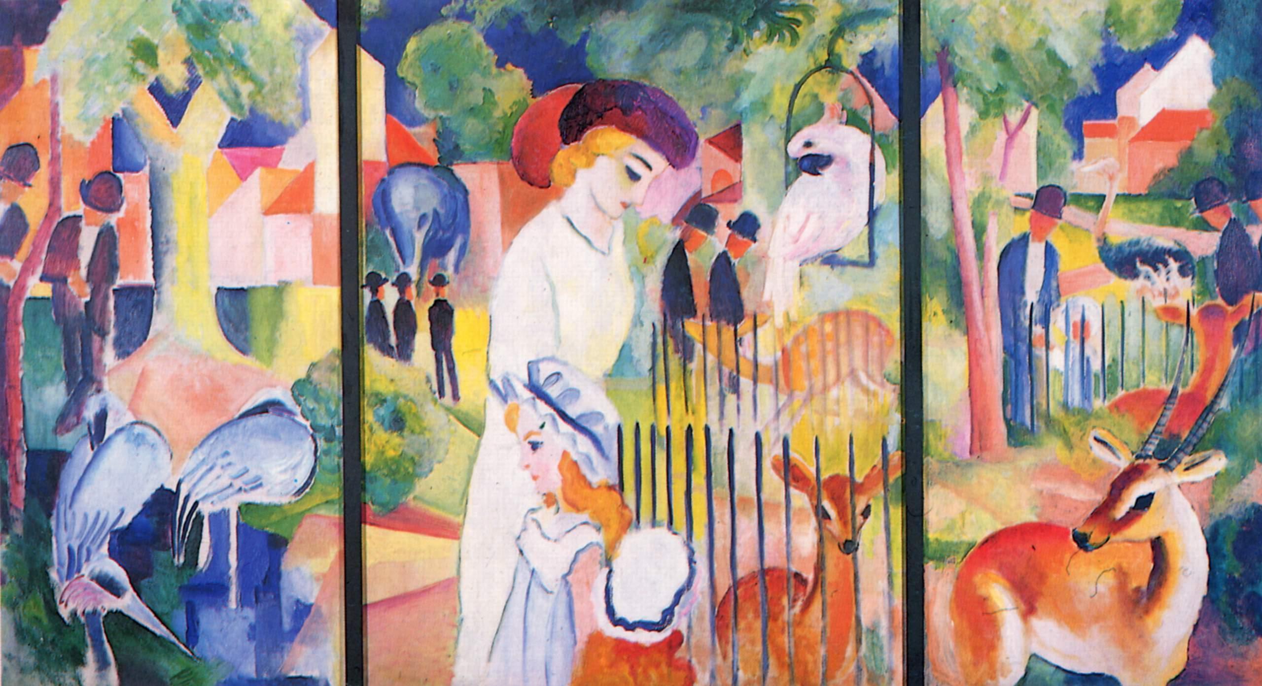 "August Macke, ""Grande giardino zoologico"", 1913"