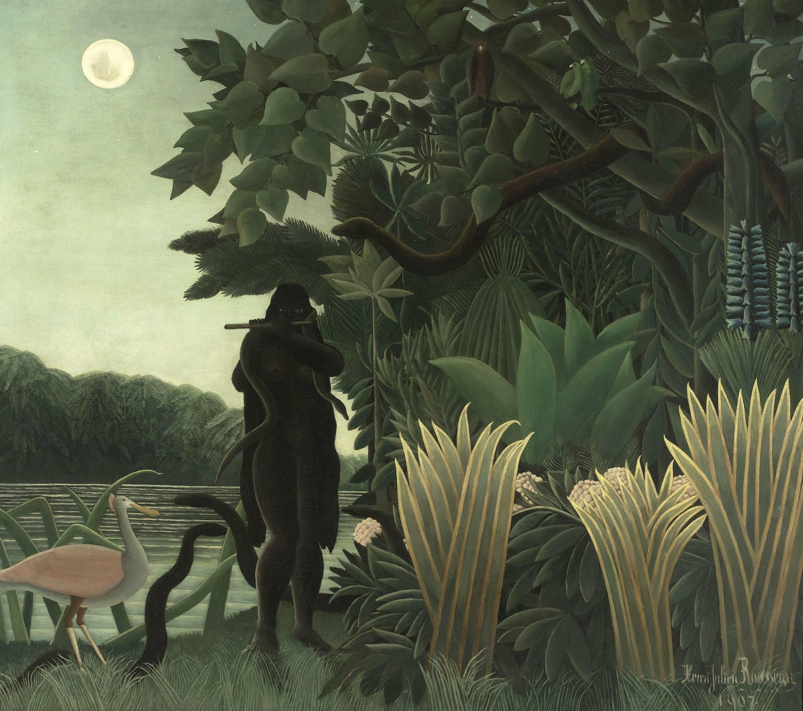 """Henri Rousseau, """"L'incantatrice di serpenti"""", 1907"""